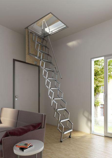 Escaleras plegables 5 modelos para altillos paperblog - Modelos de escaleras de casas ...