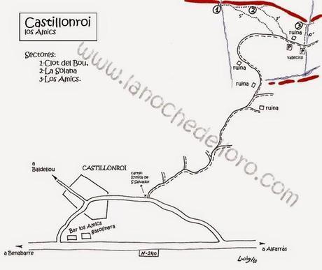 Escalada en Castillonroi sector de invierno: Los Amics