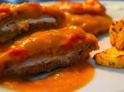 Filetes Rusos Rellenos Pavo Queso Salsa Patatas