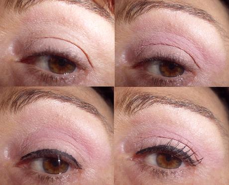 maquillaje de ojos rosa natural