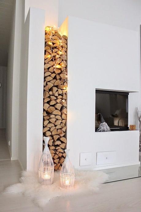 Inspiraci n chimeneas y le eros de estilo n rdico paperblog - Leneros de madera ...