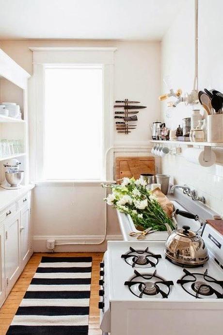 tips deco cocinas pequenas distribuir cocina espacios pequenos - Cocinas Rectangulares