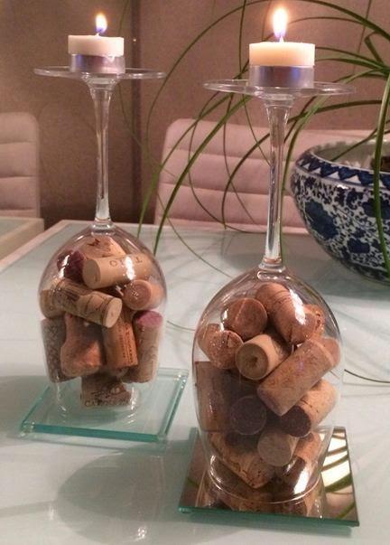 9 ideas para hacer manualidades con copas paperblog - Como decorar copas de cristal ...