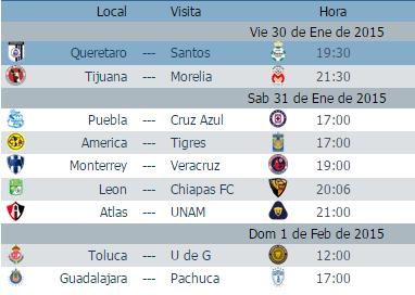 Calendario juegos jornada 4 futbol mexicano clausura 2015 liga mx ... 4fcaba8b8d7a8