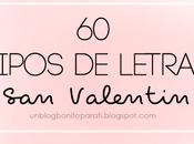 Tipos letras para Valentín