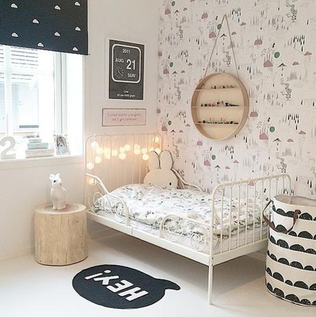 Ideas deco habitaciones infantiles de estilo n rdico para for Habitaciones infantiles estilo escandinavo