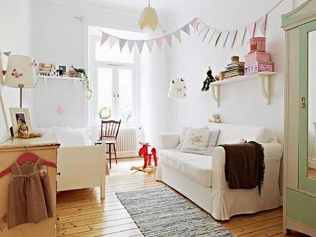 Ideas deco habitaciones infantiles de estilo n rdico para ni as paperblog - Room bebe cocktail scandinavian ...