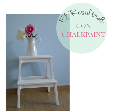 Un taburete de ikea pintado con chalk paint paperblog for Chalk paint muebles ikea