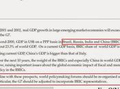 BRICS idea original Goldman Sachs