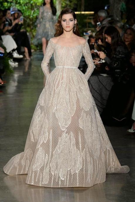 De plumas, bordados y transparencias son los vestidos de Elie Saab ...