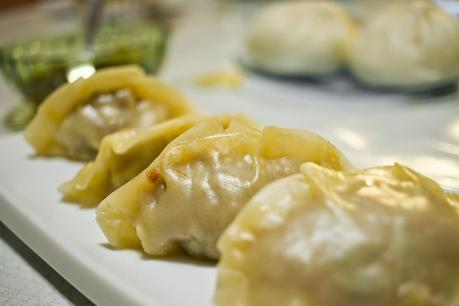 Empanadillas chinas o Gyōzas, textura china en casa