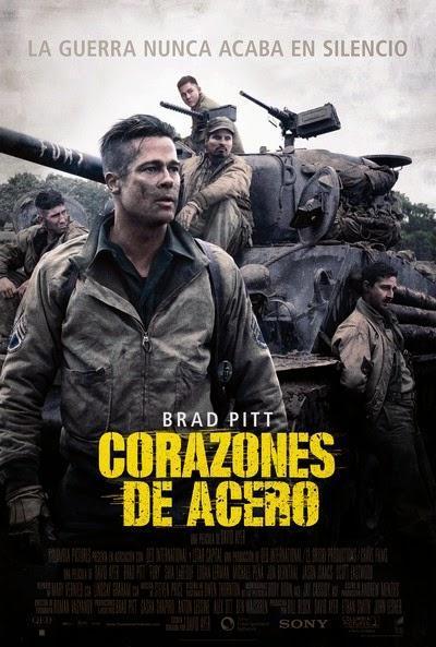 Póster: Corazones de acero (2014)