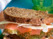 Sándwich salmón ahumado hinojo eneldo