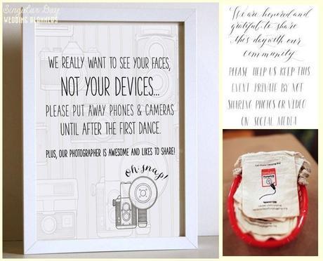 informad a vuestros invitados de que queréis que vuestra boda permanezca privada. ¿Y con una indirecta? Prueba con los sacos de dormir para smartphones.