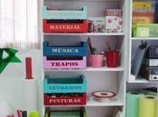 Reciclar cajas fruta para ordenar, jugar decorar