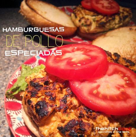 HAMBURGUESAS DE POLLO ESPECIADAS (Cena#56)