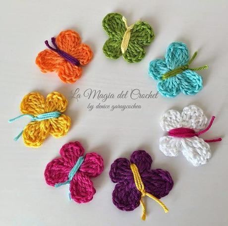 Mariposas a crochet - Paperblog