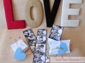 Cajas regalo tiras fotos para Valentín