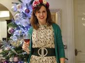 Corona flores para fiesta Navidad