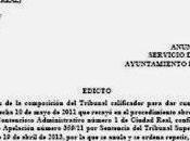 Anuncio tablón servicio personal ayuntamiento almadén