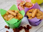Muffins manzana streusel canela apple muffins with cinnamon