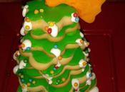 Árbol Navidad galletas cubiertas fondant