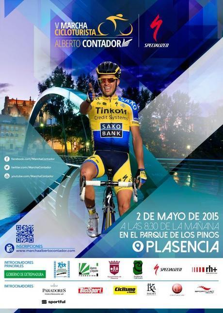 La V Marcha Alberto Contador se celebrará en Plasencia el 2 de mayo