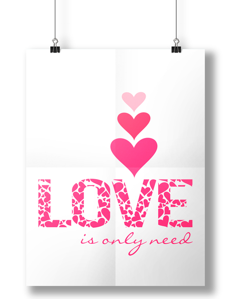 Good Monday! Lindas láminas con citas para inspirar. Only need is love, love is only need!