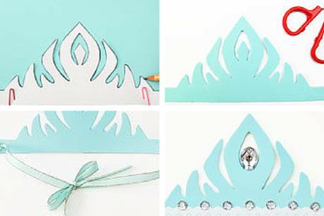 cómo hacer corona de frozen