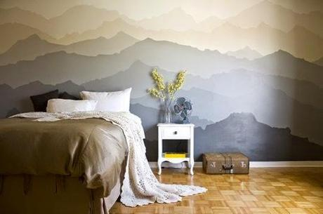 Diy un precioso mural pintado como cabecero paperblog - Murales camera da letto ...
