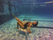 Hablando Isabel sirenas natación sincronizada