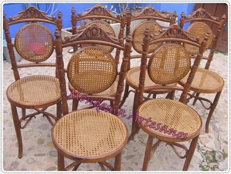 Restauracion de sillas antig as con asiento y respaldo de - Restauracion de sillas ...