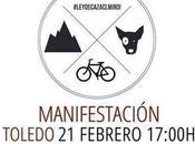 """""""Contra caza"""", manifestación toledo Febrero)"""