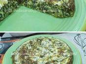 Tortilla queso espinacas