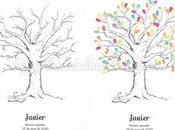 Árboles huellas para comunión