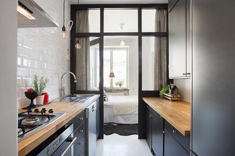 Distribuir y decorar un mini apartamento small low cost for Cocinas low cost
