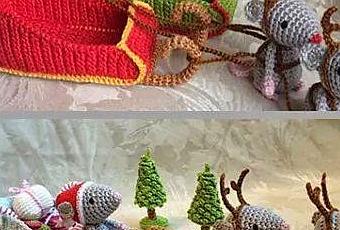 Tutorial De Amigurumis Navideños : Tutorial como hacer ratoncitos amigurumis navideños a crochet