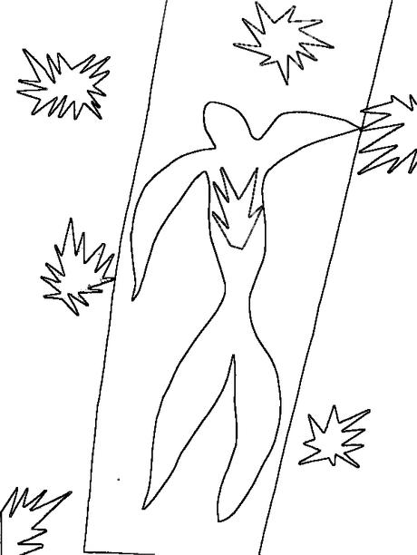 Posters para colorear: Ícaro, de Henri Matisse - Paperblog