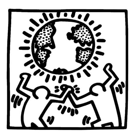 Posters para colorear: Keith Haring - Paperblog