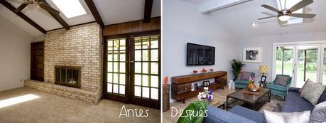 Decorar salones small lowcost antes y despu s paperblog - Decoracion de casas antes y despues ...