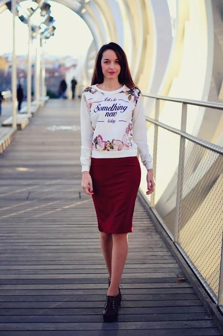 183705af86 Tendencia  falda lápiz burgundy - Paperblog