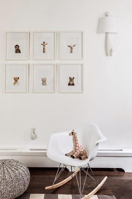 Ideas deco habitaciones infantiles de estilo n rdico para for Corredor deco blanco y gris