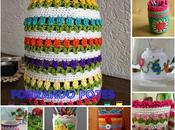 Ideas para reciclar tarros envases vidrio forrarlos crochet