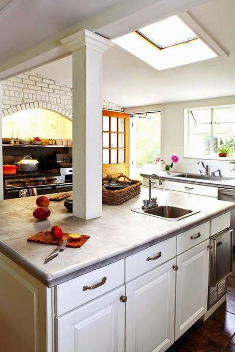 Cocinas blancas grandes peque as en l o en u modernas - Cocinas en u ...