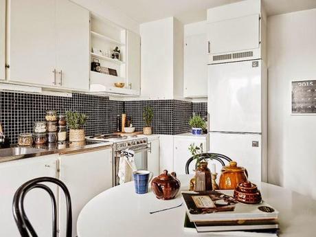 Cocinas blancas grandes peque as en l o en u modernas y cl sicas paperblog for Cocinas pequenas modernas en l