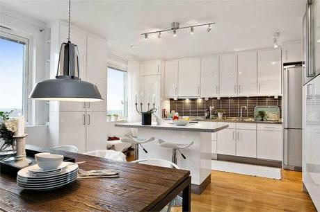 Cocinas blancas, grandes, pequeñas, en l o en u, modernas y ...