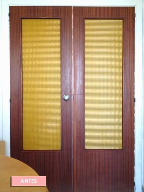 El antes y despu s de las puertas de mi casa de viejunas - Pintar cristales de puertas ...