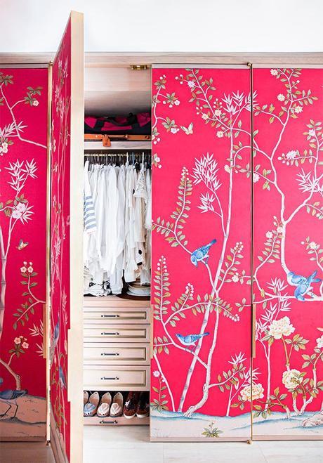 Forrar con papel pintado las puertas del armario paperblog - Papel pintado armario ...