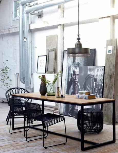 Mesas de comedor estilo industrial paperblog - Mobiliario industrial vintage ...