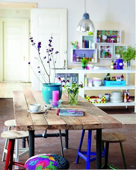 Mesas de comedor estilo industrial paperblog for Mesas de comedor estilo nordico